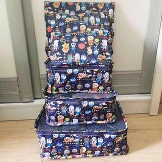 麵包超人 Hello Kitty My melody Duffy 熊本熊 旅行收納袋6件套裝