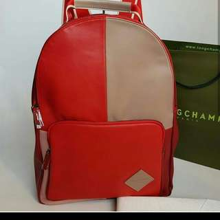 ✔FREE SHIP Longchamp Backpack Bag - red
