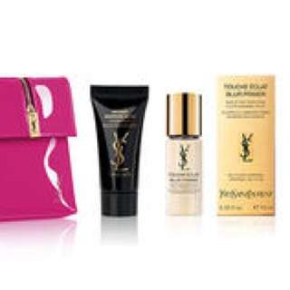 YSL Beauty Set touch Eclat makeup remover make up cosmetic bag pouch miniatures TOP secrets moisturiser