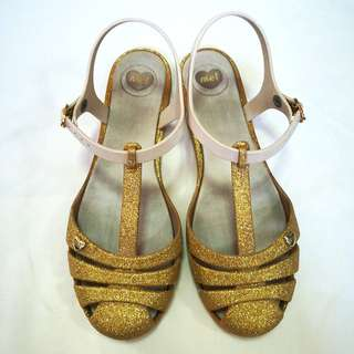 Mel by Melissa Gold Glittered Shoes