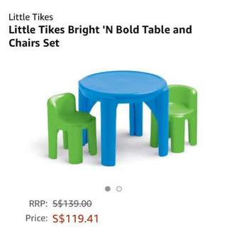 Little tikes children table & chairs set
