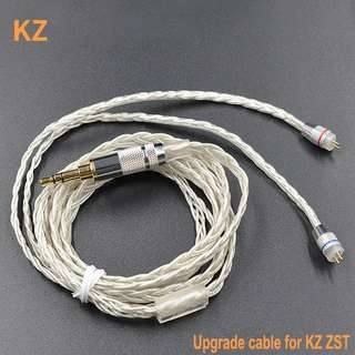Kz silver plated cable.