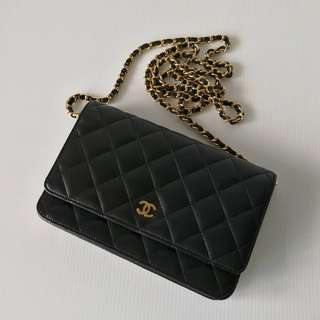 Authentic Chanel Classic Wallet On Chain