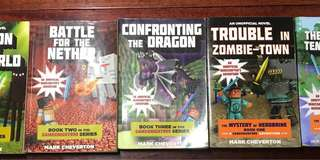 Minecraft book series by Mark Cheverton (all 5)