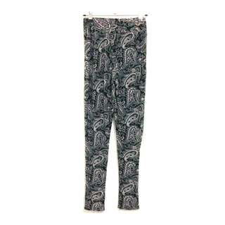 Women's Purple Grey Stretch Waistband Harem Pants [AU8]