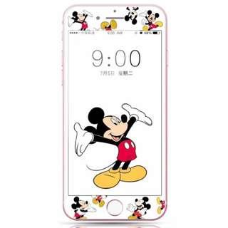 保護膜 IPhone6/7/8/plus : 卡通米奇3D軟邊鋼化膜