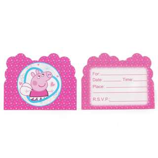 PEPPA PIG invitation Cards (Pack of 10)