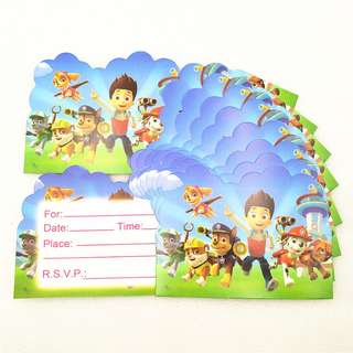 PAW PATROL Invitation Cards (Pack of 10)