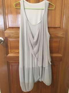 Now $5 Grey Chiffon Dress