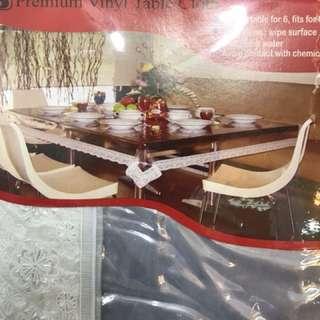 Taplak meja makan /taplak meja plastik