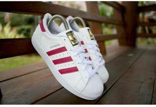 Adidas superstar foundation white pink