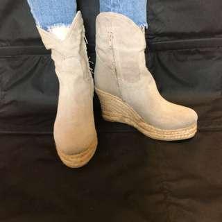 麻布Boots