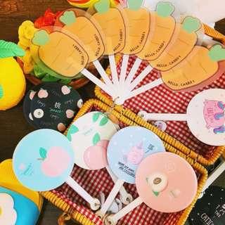 Hand Fan / Summer / もも / Peach / 桃