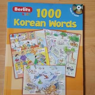 Berlitz 1000 korean words with audio cd included