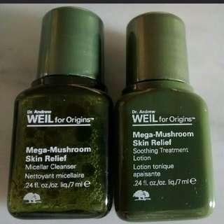 Origins Mega-Mushroom Skin Relief 3pcs Sample Set