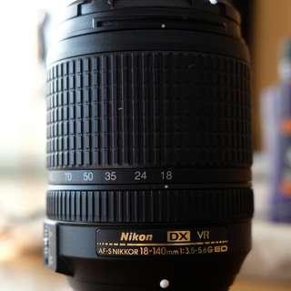 Nikkor 18-140mm f3.5/5.6g ED Lens