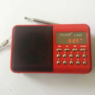 Digital FM Radio with Mp3 Player USB microSD slot