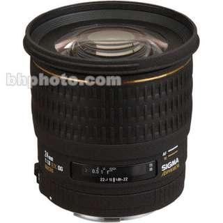 Sigma Wide Angle 24mm f/1.8 EX Aspherical DG DF Macro Autofocus Lens for Pentax AF