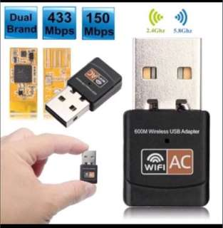 600mbps 5G wifi network adapter thumb drive usb