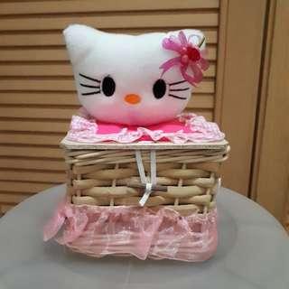 Tempat tissue hello kitty