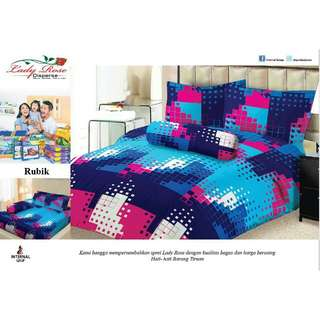 Sprei Lady Rose 180x200 King terlaris Rubic