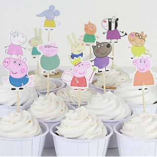 PEPPA PIG Cupcake Topper (Pack of 10)