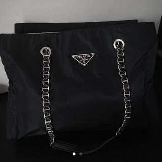 罕有熱賣 Prada Big Large Size Shopping Chain Bag Backpack Wallet 背包 背囊