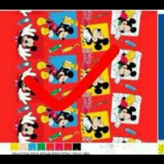 selimut bulu mickey mouse