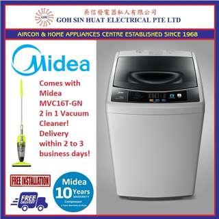 Midea MT725 Washing Machine + Midea 2 in 1 Vacuum Cleaner Combo