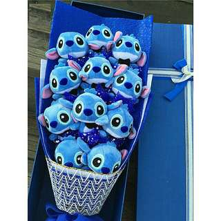 11pcs Stitch Bouquet With Gift Box