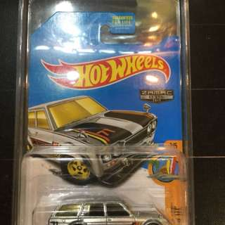 Hot Wheels '71 DATSUN BLUEBIRD 510 WAGON 2017 ZAMAC