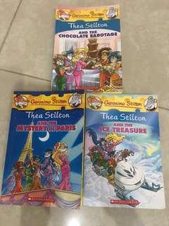 Three Thea Stilton Books