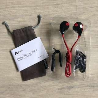 Aukey Sport Bluetooth headphones - Red