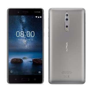 $18/1張 ,$20/2張 Nokia 8 高清防指紋9H 強化玻璃保護貼0.26mm 麗康墨盒