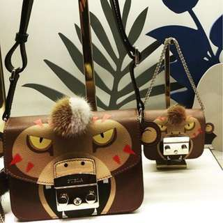 Furla Metropolis Jungle Cat Crossbody