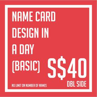 Namecard design and outsource printing