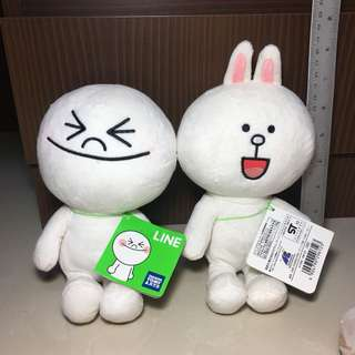 Line Cony and Moon Plush Toy | Soft Toy