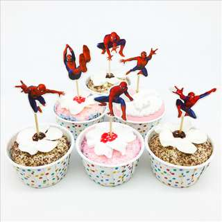 SPIDERMAN Cupcake Topper (Pack of 10)