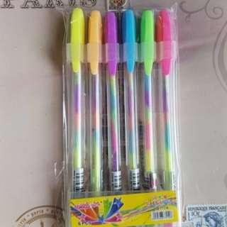 pulpen/ pen gel/ gel pen/ pulpen gradasi/ gradasi pen/ pulpen warna/ pulpen warna warni / pen color/ coloring pen/ drawing pen/ pulpen pelangi/ pen rainbow/ rainbow pen/