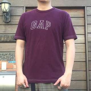 日本古著英文字母 GAP 刺繡超帥 T
