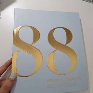 Kikki.k Time is Now 88 Mindful Moments journal book blue gold gilded