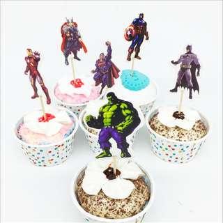 AVENGERS Cupcake Topper (Pack of 10)