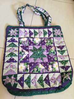 Handmade fabric art bag