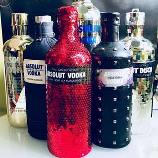 Limited Edition Casing/ Sleeves & Empty Absolut Bottles
