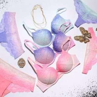 🚚 現貨LA SENZA 絕美漸層蕾絲小爆乳系列 LaSenza紫羅蘭 春天限定款 成套內衣+內褲 32D / 褲S