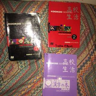 TEXTBOOKS AND A DICTIONARY