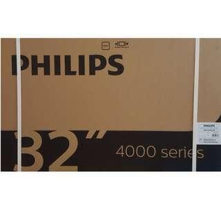 """BRAND NEW Philips 32"""" Digital Led Tv 32PHT4002/98 (DVB)"""