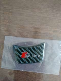 S line steering wheel carbon fibre stickers for Audi