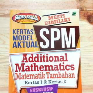 SPM: ADD MATH ( FULL SOLUTION WITH MARKING SCHEME ) by SASBADI