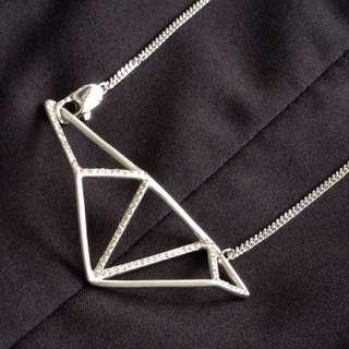 BN - Triangular Crystal Frame Necklace